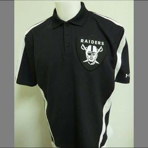 Sz L Under Armour Raiders Mens Poly #04V Golf Polo